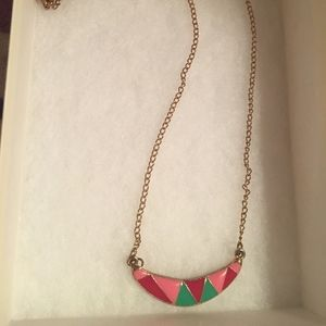 Jewelry - Gold Toned Enamel Necklace